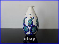 Grand vase ancien Art Déco Keramis Charles Catteau Boch Frères