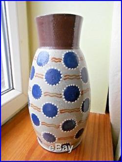 Grand vase art deco Elchinger fils num. 39-6 années 30 ou 50 soufflenheim alsace