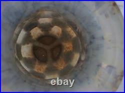 Grand vase art deco cerclé métal attribué a Daum Nancy et Louis Majorelle H 37,5