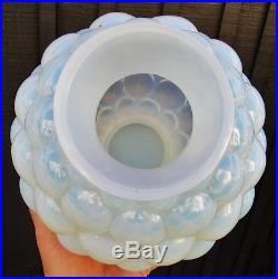Grand vase art deco verre opalescent signé FRANCE + un nom