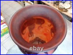 Grand vase le verre français, art déco (Schneider, Gallé, Daum, art nouveau)