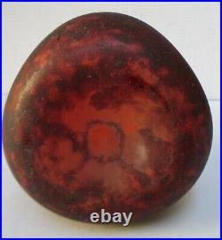 Grande Berluze Vase pâte de verre rouge DELATTE Nancy Art Déco Era Muller Daum