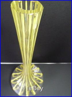 Grande Vase 50 cm signé LE VERRE FRANÇAIS au berlingot Schneider Art Deco