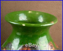 Grande Vase Art Deco Céramique Signe Sispa Emile Simonod Poterie Savoyarde 1930