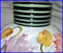 Gros Vase Boule Art Deco En Ceramique De Pardi Vallauris No Massier Decor Floral
