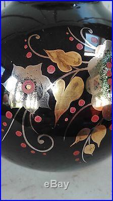 Gros Vase Boule En Faïence De Style Art Déco Boch La Louvière