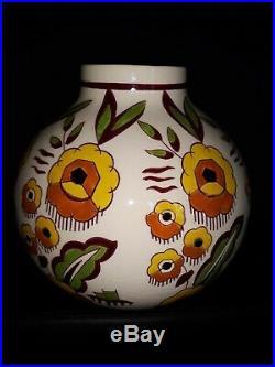 Gros Vase Boule art deco boch frères Keramis Charles Catteau