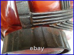 Gros Vase En Fer Forgé Et Pte De Verre Art Déco Lorrain Daum