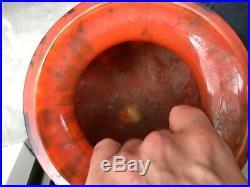 Gros vase boule ART DECO 30' (Majorelle Daum Nancy) Non signé En l'état