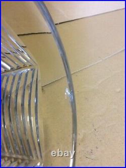 Gros vase cristal taillé Baccarat Art Déco