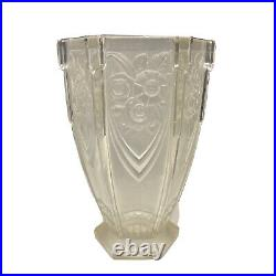 HANOTS Vase époque Art Deco verre (années 1930 France)