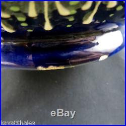IMPORTANT Vase Faïence QUIMPER HB Perlé Henriot/Bretagne/odetta/ceramic cir. 72cm