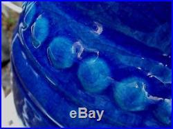 Important Vase Emile LENOBLE bleu Persan Art Déco c1930 Museum Interest