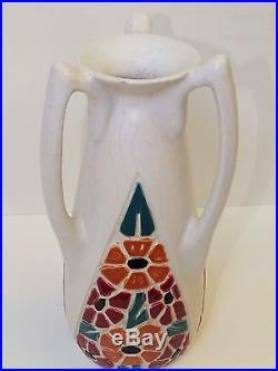 Important vase Art Déco aux 3 anses signé Octave LARRIEU (1881-1965)