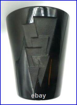 JEAN LUCE vase art deco-gravé au jet de sable-signée-daum, muller, thuret, argy