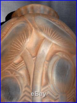 Joli vase art-deco Pierre d'avesn aux pavots, era daum galle muller