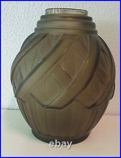 Joli vase''art déco'' signé Verçais (le verre français Schneider)