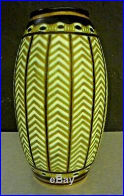 KERAMIS-Charles CATTEAU, vase art deco ceramique émaillée, adnet, pomone, primavera