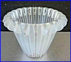 LALIQUE FRANCE Vase Royat cristal art deco daum, sabino, schneider