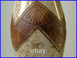 LEGRAS grand vase ovoïde époque art déco décor dégagé à l'acide signé