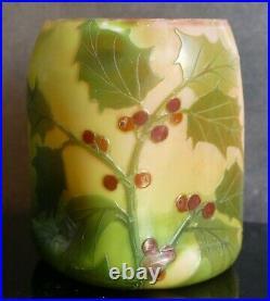 LEGRAS vase pâte de verre multicouche art Nouveau / déco gravé acide Era Gallé