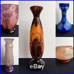 Le Verre Français Charder Gros Lot De Vases Art Déco Gallé Daum