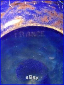 Le Verre Français Charder Vase Aux Myrtilles Dépoque Art Déco vase gallé
