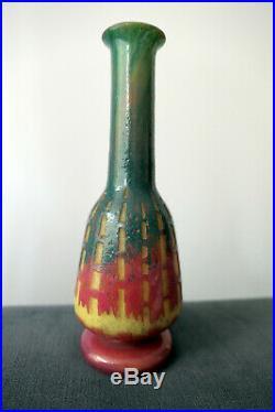 Le Verre Français Schneider Vase Modele Chicorée Art Deco 1930
