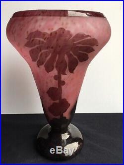 Le Verre Français Vase Dahlias 1923/1926 Art Déco gallé daum schneider