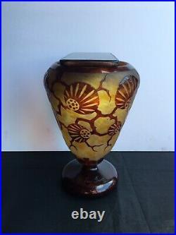 Le Verre Français Vase Épinettes 1924/1927 Art Déco gallé daum schneider