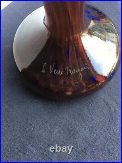 Le Verre Français Vase Halbrans 1924/1927 Art Déco gallé daum lalique