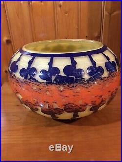 Le Verre Français Vase Mirettes 1922/1925 Art Déco gallé daum