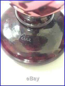 Le verre Français Charder vase Colliers Art Deco Charles Schneider