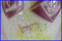 Legras vase art déco