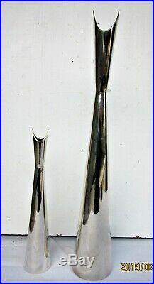 Lino Sabattini & ChristoflePaire de vases années 50 métal argentéEtat superbe