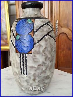 Louis Dage vase en grès émaillé période Art Déco 20607
