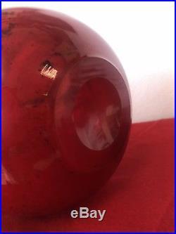 Magnifique Vase Boule Art Deco Signé Legras