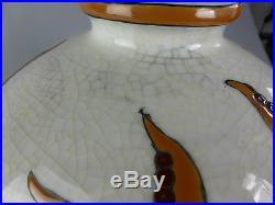 Magnifique Vase Boule Emaux Style Art Deco Pieuvre Style Mycenien Crete Grec