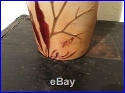 Magnifique Vase Signé Legras Dégagé A Lacide Art Deco