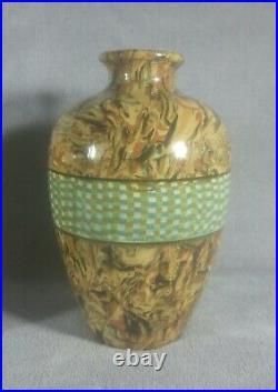 Magnifique paire de vases Faïence Nériage Vallauris Gerbino Art-déco 1940's