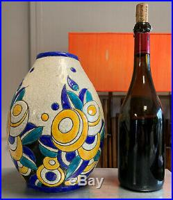 Magnifique vase art deco Keramis BOCH frères à La Louvière