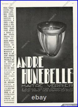 Magnifique vase corole par Hunebelle art deco