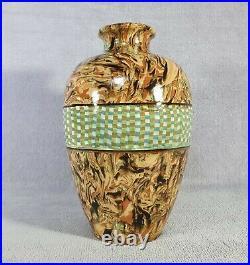 Magnifique vase en faïence Nériage Vallauris Gerbino Art-déco 1940's