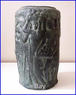 Marco Quart (1894-1917) Vase Art Deco Style, Women