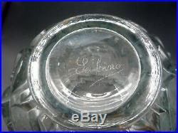 Marius Ernest Sabino, vase art deco verre moulé, lalique, muller, schneider, argy
