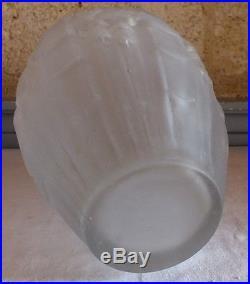 Muller Frères Lunéville vase pate de verre moulé pressé