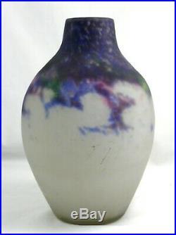Muller frères Lunéville vase en pâte de verre marmoréen, 25,8 cm, Art Déco signé
