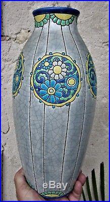 No2H33 cmVase art deco Longwy-Pomone-Atelier au bon marchéD 842Etat sup