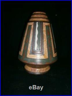 ODETTA HB Quimper René Beauclair Exeptionnel vase Art Déco très bon état 31cm
