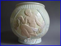 Orchies Lejan Vase Aux Nus Feminins Ceramique Craquele Art Deco 1930